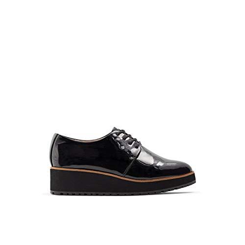 ALDO Women's Lovirede Oxford Wedge Shoes, Black Patent, 9