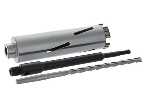 Diamant Bohrkrone SDS-plus lang (200mm) Aufnahme und Zentrierbohrer Nutzlänge 180 mm Ø 52 mm Betonbohrkrone Kernbohrer