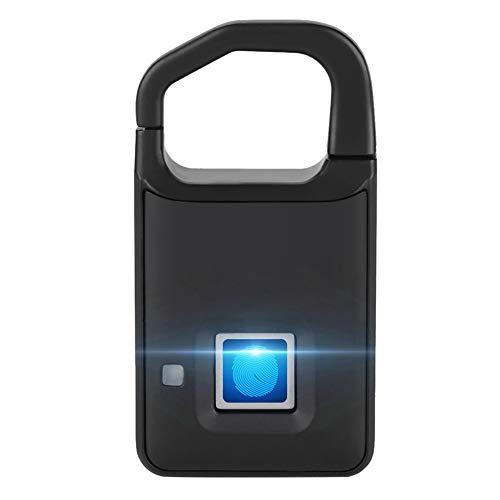 Intelligentes Fingerabdruck-Vorhängeschloss Sicherheit Schlüssellose Diebstahlsicheres Schloss für Koffer Gepäck, Haustür, Rucksack, Koffer, Fahrrad