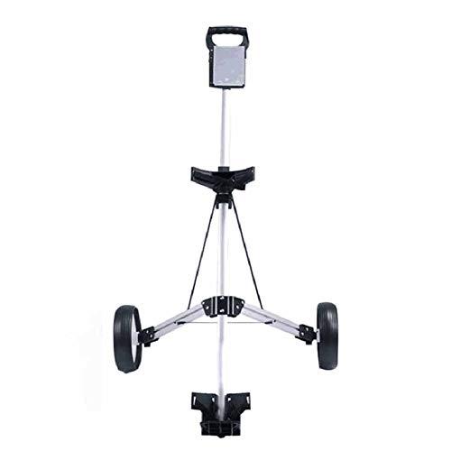 XFY Push Pull Golf Cart, Lightweight 2 Wheel Foldable Golf Trolley, Aluminum Golf Cart with Scorecard, Enhances Effortless Mobility and Storage