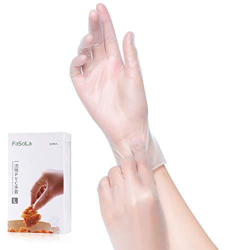 Larcenciel Wegwerf Handschuhe 100 Stück Box Einweghandschuhe, Einmalhandschuhe, Untersuchungshandschuhe,Handschuhe, puderfrei, ohne Latex, unsteril, latexfrei, disposible gloves