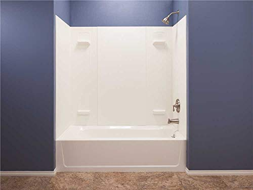 Mustee 557WHT Durawall Fiberglass Bathtub Wall Surround, White