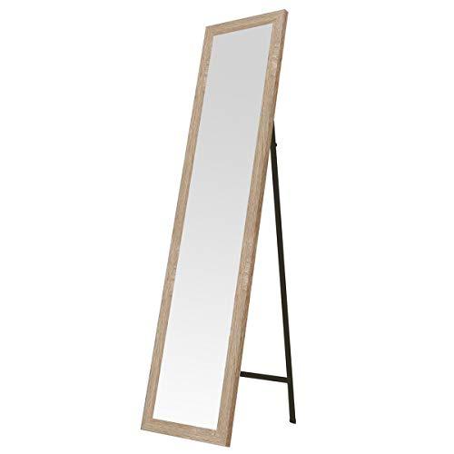 Lola Home Espejo de pie nórdico de Madera de 37 x 157 cm (Beige)