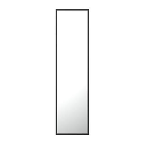 Espejo de Pared Dorado y Cromado, Rectangular, con Marco de Aluminio Pintado en Polvo, Superficie Lisa del Espejo, 2 cm de Profundidad, fácil instalación en Horizontal o Vertical