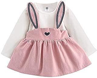 [hfeweng] 新生児服 ベビーかわいい長袖ウサギデザインDourabbi:スカート 秋 冬 カジュアル お出かけ プレゼント 女の子 ガールズ 赤ちゃん