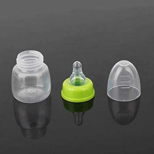 SeniorMar Stillflaschen 60ML für Babys, Stillsaft Milchhärteflasche Tragbare, praktische Mini-Zufuhrflaschen