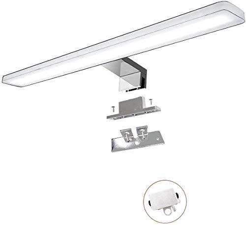 Cywer led Spiegelleuchte | Aufbauleuechte | Klemmleucht | Badleuchte | Schminklicht | Badezimmer Schrankleuchte | warmweiß | 30cm | IP44 | 8w | 800lm | 230V