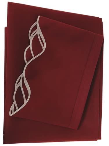 Toldo con volante, protección solar 50+, material acrílico, alta calidad, apto para toldos de 5 x 3 m, cosido a mano, color rojo vino