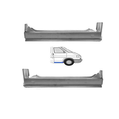 SET! Schweller Außenschweller Einstiegrepraturblech unter der Tür vorne seitlich links rechts Einstieg Reparatur Blech passend für T4 Transporter Bus Kasten Pritsche