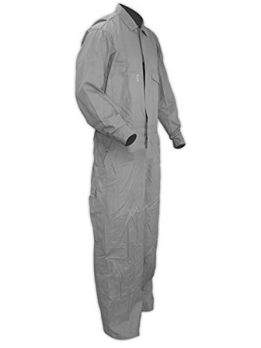 Magid Glove & Safety Dual Hazard 7 oz. FR 100% Cotton Coveralls, Arc Flash & Flash Fire Protection, Grey, Large (1 Coverall) (CCG70DHL)