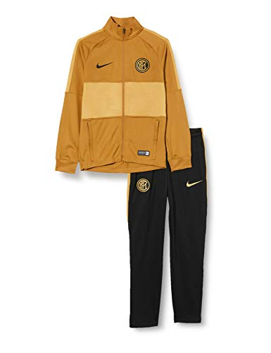 Nike Inter Y Nk Dry Strk TRK Suit K, Tuta Unisex Bambini, Muted Bronze/Black/Truly Gold/Black, M