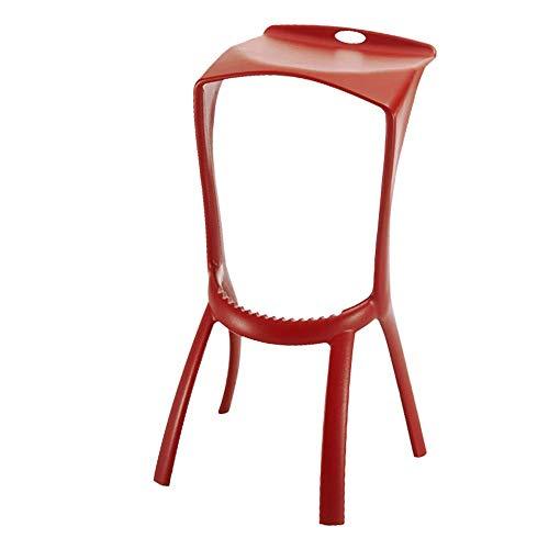 YH Européen en Plastique Simple Creative Bar Table Et Chaises Personnalité Casual Bar Chaise Restaurant Mode Tabouret Chaise Haute A+ (Couleur : C)