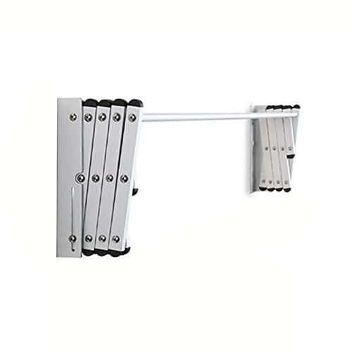LJP Elektrofores Aluminiumlegering Väggmonterad Kläder Torkställ Exteferble Retractable För Tvättstuga Badrum Utility Area Compact Fold Away (Size : 60 * 63cm)