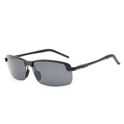 Gafas de Sol Gafas De Sol De Aluminio Y Magnesio Polarizadas con Película De Color Gafas De Sol De Medio Marco protección para los Ojos (Color : G)
