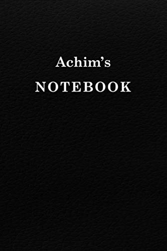 Achim's Notebook University Graduation gift: Lined Notebook / Journal Gift, 120 Pages, 6x9, Soft Cover, Matte Finish
