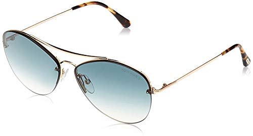 Tom Ford FT0566 6028W Sonnenbrille FT0566 28W Aviator Sonnenbrille 60, Pink
