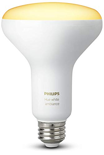 Philips Hue White Ambiance BR30 60W Equivalent Dimmable LED Smart Flood Light (Hue Hub Required, Works with Alexa), All US Residents, Old Version