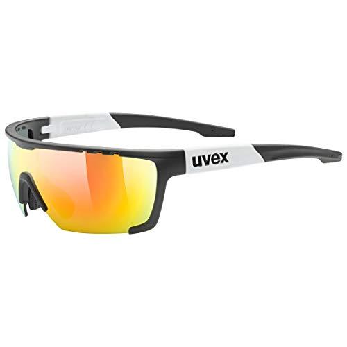 Uvex Sportstyle 707 Gafas de Deporte, Unisex - Adult, Black Mat White/Mirror Red, One Size