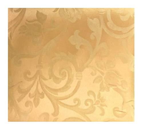 menitashop Tessuto TAPPEZZERIA in Cotone Raso Damascato A Taglio per Arredamento 280X280 CM (Oro, cm...