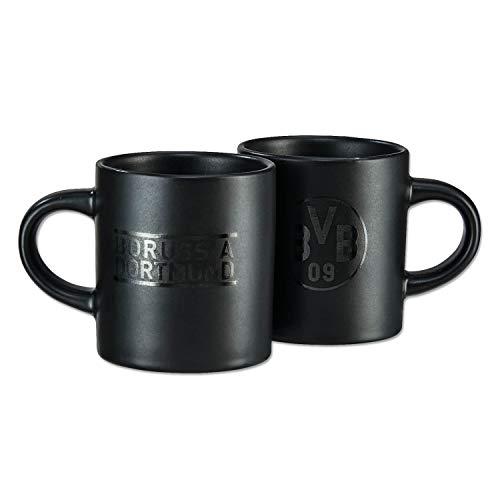 Borussia Dortmund Espresso Tassen 2er Set, Kaffeetasse, Mug BVB 09 (L)
