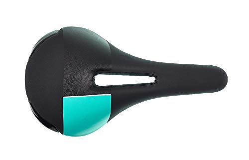 Bianchi - Sillín Negro Celeste para Bicicleta de montaña, Bicicleta de Carretera, Bicicleta de montaña
