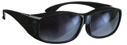 PEARL Überziehbrille: Überzieh-Sonnenbrille Day Vision für Brillenträger, UV 380 (Übersonnenbrille)