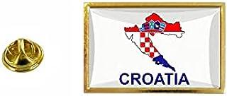 Akachafactory Pin vlag kaart HR Kroatië