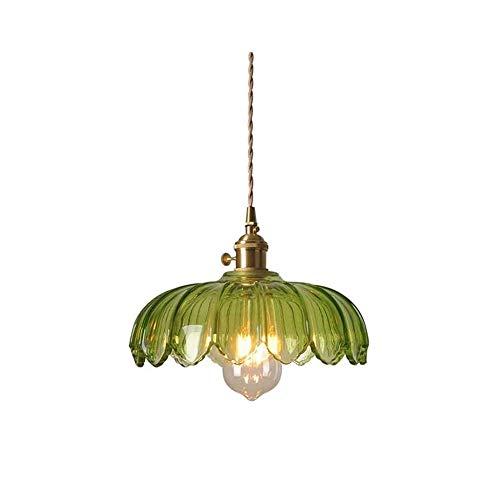Chandelier de granja Tipo de botón ajustable Puede colgar Tipo de interruptor de vidrio + Equipo de iluminación de bombilla LED de ahorro de energía de metal Adecuado for barra de techo Sala de estar