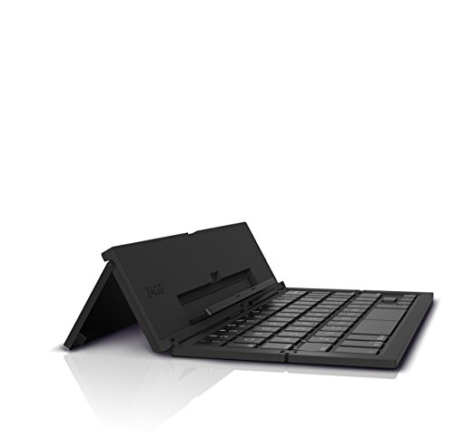ZAGG Foldable Wireless Pocket Keyboard Universal for Smartphones, Small Tablets, Apple and Android Devices - Black