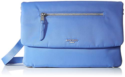 Knomo Mayfair Bolso Bandolera, 28 cm, 0.8 Liters, Azul (Cornflower Blue)