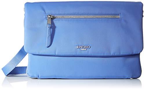 Knomo Mayfair Bolso Bandolera, 28 cm, 0.8 Liters, Azul (Cornflower Blue)
