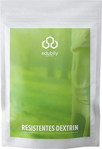 Resistentes Dextrin von edubily® • Ballaststoffe • Resistente Stärke Typ 4 aus Mais ohne Gentechnik • Im recyclingbaren Beutel • Mit Dosierlöffel aus Bio-Kunststoff PLA • 400 g
