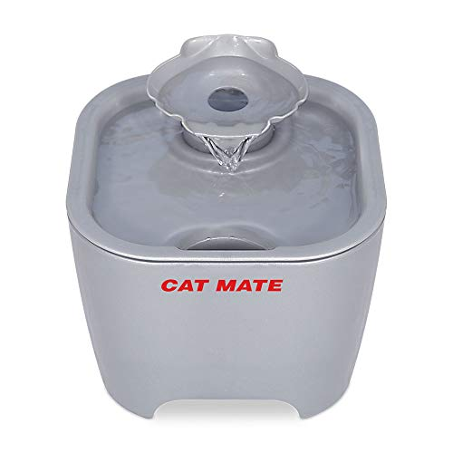 Cat Mate Shell Fountain 100 Fl Oz. (White) (Titanium)