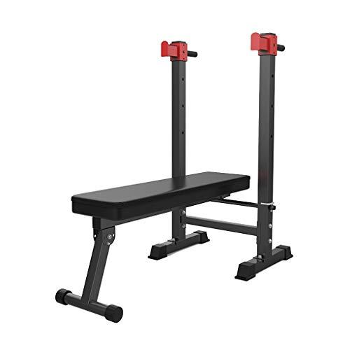 Squat Rack Hantel Bank Fitnessgeräte Haushalts Männer Faltbare Multifunktionale Gewichtheben Bett (Color : Black, Size : 136 * 60 * 126cm)