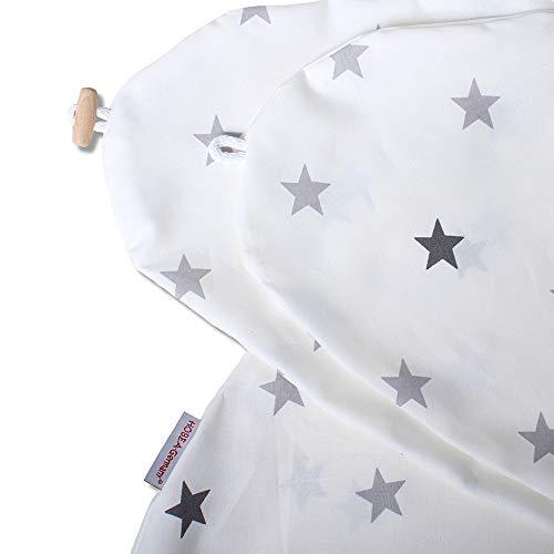 Funda de almohada de lactancia para cojines de lactancia 190cm de HOBEA-Germany (patrón de estrella blanco)