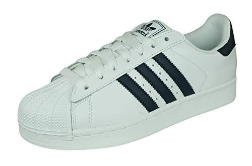 adidas Originals Superstar II Schuh mit Low-Top für Erwachsene, Unisex, Weiß - Weiß Marineblau - Größe: 46 EU