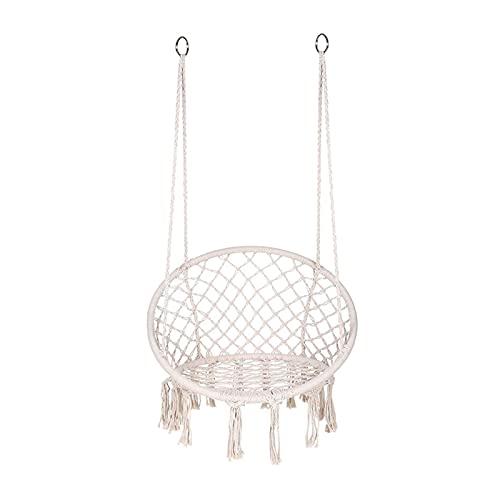 WSZMD Mesh Seil Swing Chair Outdoor Cotton Seil Geflochtene Quaste Swing Europäischer Und Amerikanischer Garten Swing Chair, Hängende Stuhl