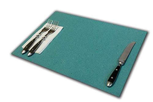 Tovagliette di Carta Verde monouso | Confezioni da 500 Fogli | Formato cm 30x40 | Robusta: 120 gr.mq. | Sottopiatto o copritavolo Ideale per ristoranti | Simil Carta Paglia