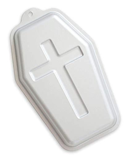 WDYJMALL 24,1 cm Sarg Form Aluminium 3D Kuchen Form Backform Backform Backform für Halloween – Sarg