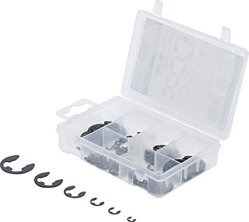 Kraftmann 88174 | E-Sicherungsring-Sortiment | 94-tlg | 3 - 15 mm | inkl Sortimentskasten | Sprengring