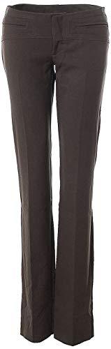 Northland Damen Hose Stoff gerades Bein 42 braun Dunkelbraun