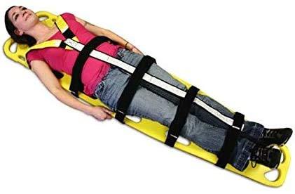 FanYu Tipo de Placa de Rescate de Emergencia médica contra Incendios Camilla de plástico, Camilla de Rescate para Piscina, Sistema de fleje de inmovilización espinal para Tablero Salvavidas,Adults