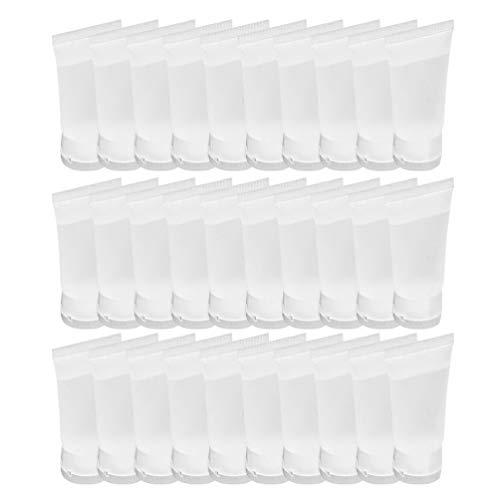 Minkissy 10Ml Klare Leere Nachfüllbare Kunststoff-Weichröhrchen Quetschflasche Kosmetik-Probenbehälter Gläser für Gesichtsreiniger Shampoo Duschgel Körperlotion Creme 25St