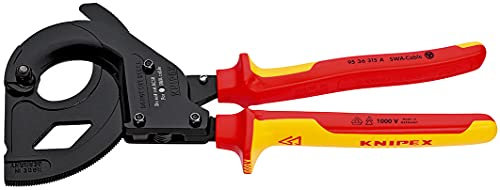 KNIPEX Cortacables (tipo carraca) para cables con cobertura de acero (cable SWA)aislado 1000V (315 mm) 95 36 315 A