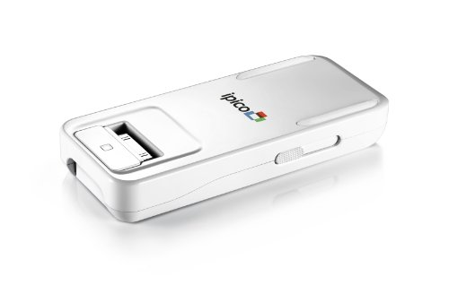 General Imaging PJ205 ipico Handheld LED Personal Projector for Apple iPhone/iPod Touch - Retail Packaging - White