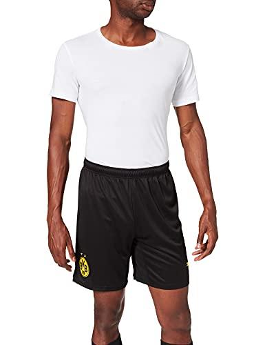 Puma Herren BVB Shorts Replica Black-Cyber Yellow, XL