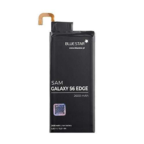 Bluestar Akku Ersatz kompatibel mit Samsung Galaxy S6 Edge G925F 2600 mAh Austausch Batterie Accu EB-BG925ABA