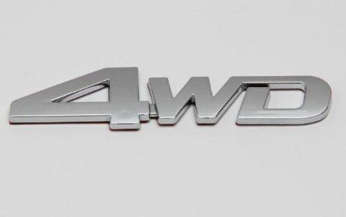 Preisvergleich Produktbild 4 WD Chrom Emblem,  Schriftzug selbstklebend