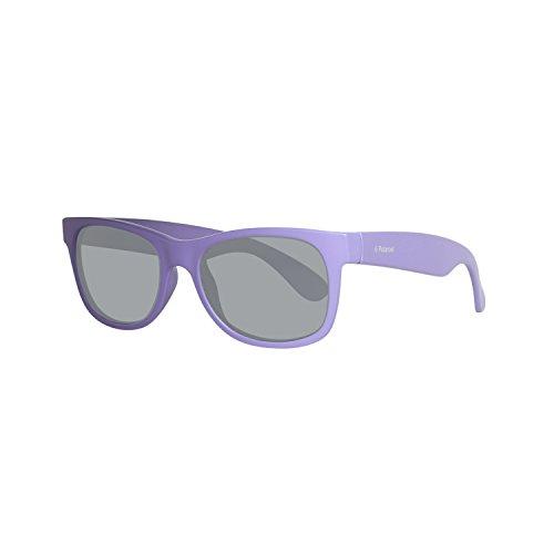 Polaroid P0300 Y2 MZ9 43 Gafas de sol, Morado (Matt Dark Lilac/Grey Pz), Unisex Niños
