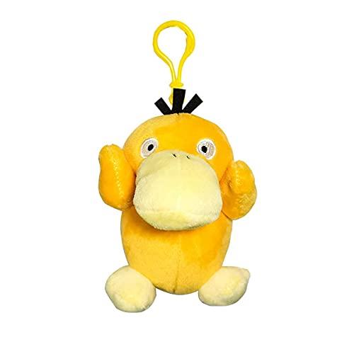 GINDU 2 Piezas de Pokemon Gotha Duck Duck Tonto Patito Muñeca Goteo Duck Juguete Colgante Llavero 4.5 Pulgadas